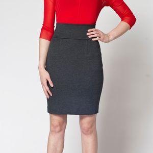 Heather Grey Ponti Pencil Skirt